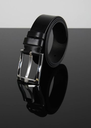 Handmade belt designer belt unusual gift for men male leather belt black belt - MADEheart.com