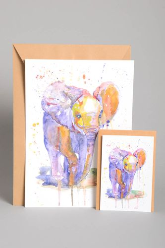 Handmade wall hanging modern painting greeting card home decoration gift ideas - MADEheart.com