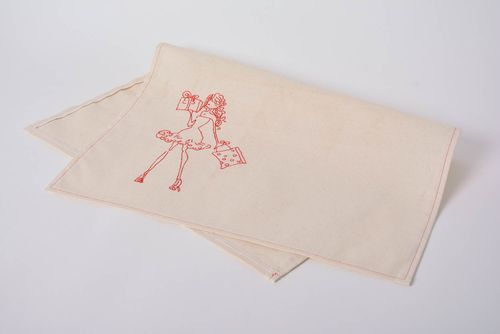 Handmade designer semi linen decorative embroidered dish towel for kitchen - MADEheart.com