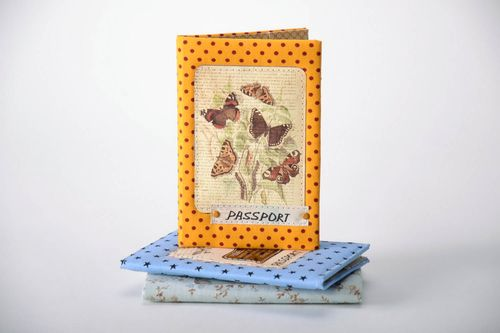 Passport cover made of cotton - MADEheart.com
