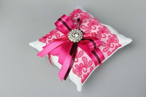 Satin pillow for rings - MADEheart.com