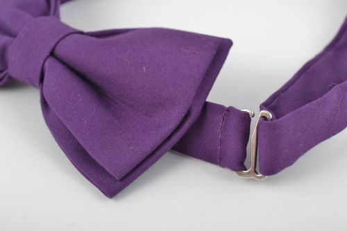 Unusual beautiful handmade cotton fabric bow tie with adjustable strap - MADEheart.com