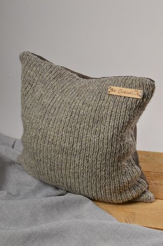 Handmade woolen pillowcase knitted pillowcase for home decorative use only - MADEheart.com