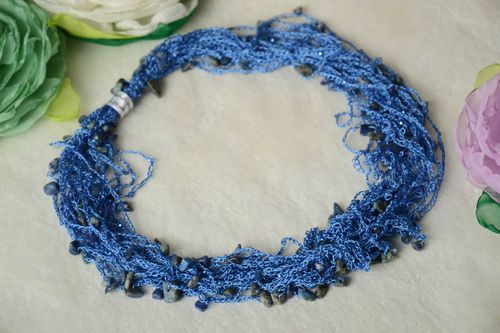 Stylish handmade crochet necklace textile jewelry designs crochet ideas - MADEheart.com