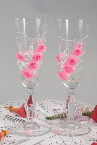 Wedding accessories stylish glasses for champagne unusual beautiful glasses - MADEheart.com