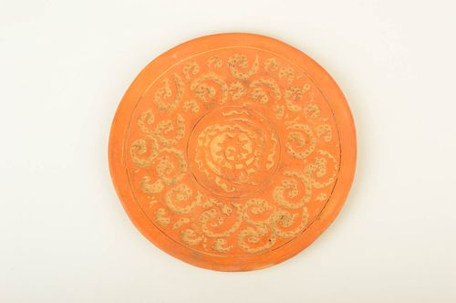 Handmade pottery ceramic plate wall plate decorative dish decorative use only - MADEheart.com