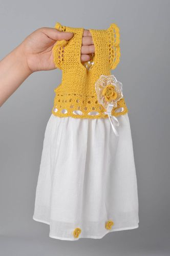 Handmade crocheted dress children clothes beautiful clothes for kids - MADEheart.com