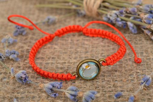 Unusual handmade braided bracelet bright friendship bracelet fashion accessories - MADEheart.com