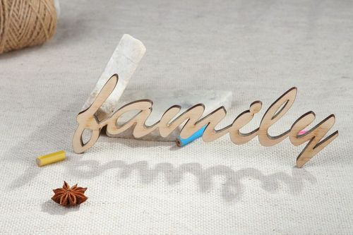 Chipboard word Family - MADEheart.com