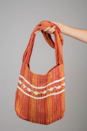 Orange womens bag - MADEheart.com