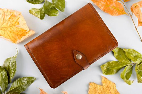 Handmade leather case for tablet beautiful brown tablet case unusual case - MADEheart.com