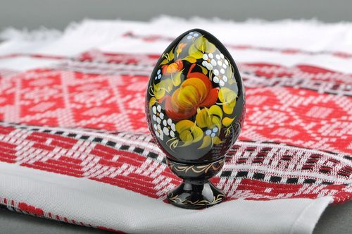 Decorative egg with a holder Peony - MADEheart.com