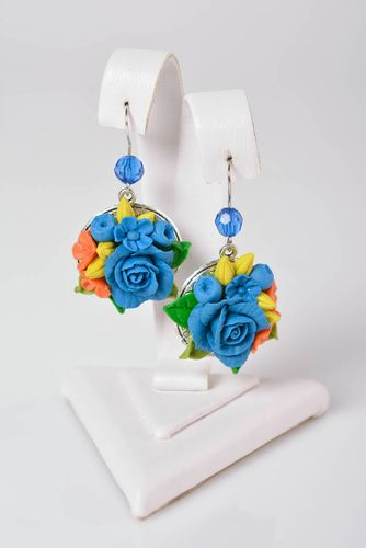 Handmade bijouterie porcelain earrings molded flower earrings fashion jewelry - MADEheart.com