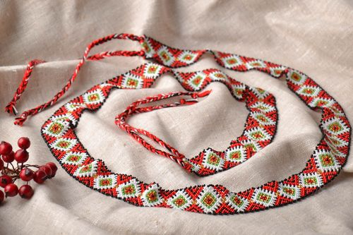 Womens beaded belt - MADEheart.com