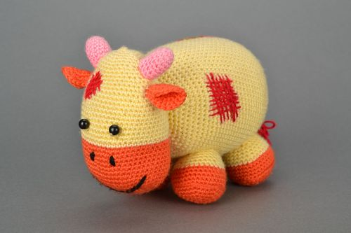Soft crochet toy Cow - MADEheart.com