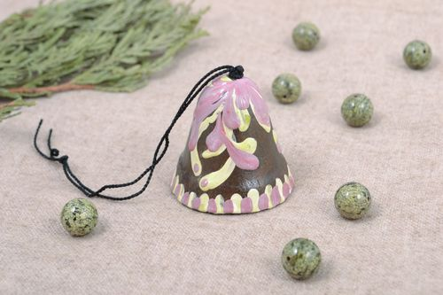 Designer ceramic bell with painting - MADEheart.com