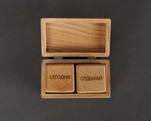 Wooden cubes with prophecies - MADEheart.com