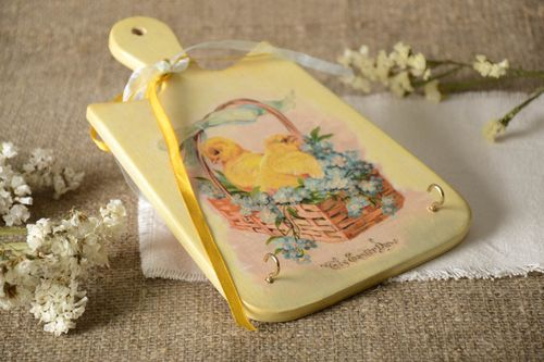 Beautiful handmade key holder wood craft decoupage ideas hallway ideas - MADEheart.com
