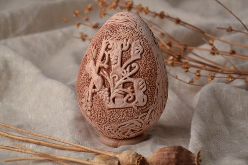Clay Easter egg with with monograms - MADEheart.com