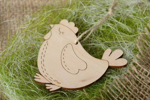 Plywood blank figurine of chicken for painting - MADEheart.com