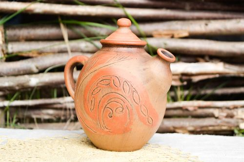 Handmade pottery clay teapot ceramic teapot clay tableware eco friendly dishes - MADEheart.com
