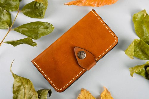 Handmade leather phone case designer case for cell phone cute accessory - MADEheart.com