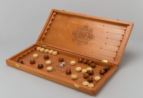 Backgammon board game - MADEheart.com
