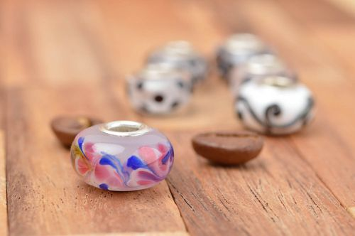 Handmade glass bead DIY accessories jewelry making supplies lampwork ideas - MADEheart.com