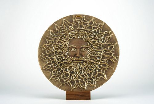 Wall panel of ceramic Svarog (Slavic God) - MADEheart.com