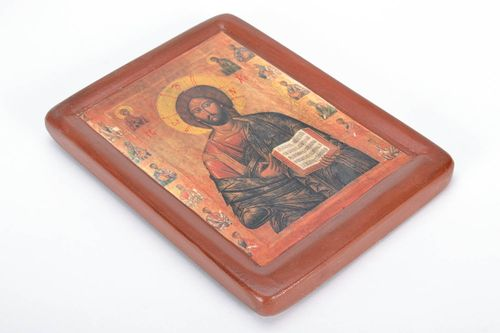 Printed copy of the icon Almighty Christ - MADEheart.com