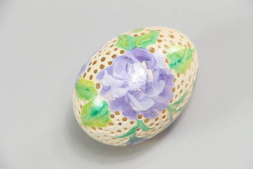Painted decorative egg for interior - MADEheart.com