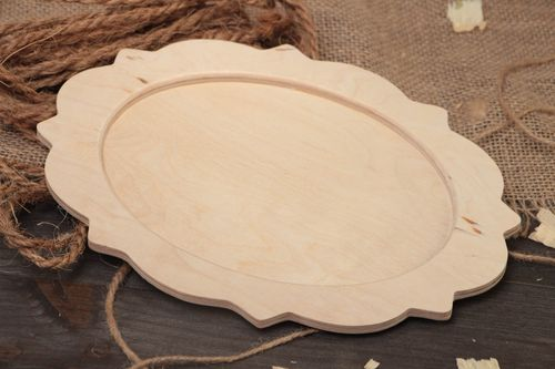 Handmade plywood craft blank for decoration basis for dish mirror or wall panel - MADEheart.com