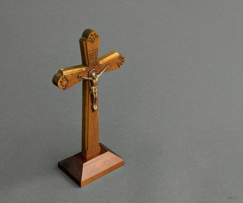 Orthodox desktop cross with crucifix - MADEheart.com