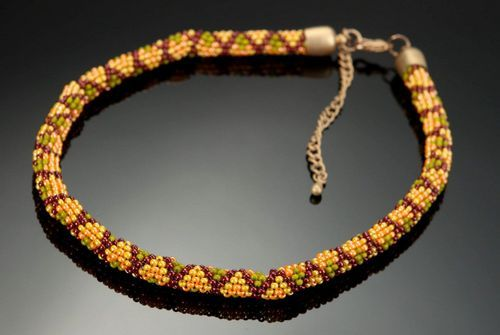 Necklace made of czech beads Snake - MADEheart.com