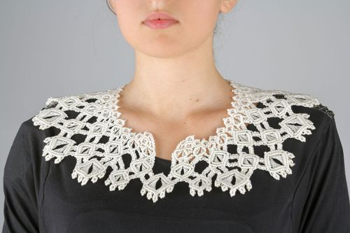Detachable macrame collar - MADEheart.com