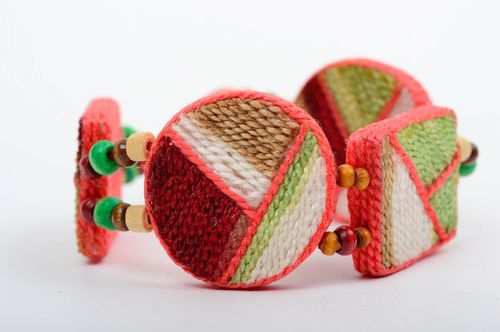 Unusual handmade ceramic bracelet thread bracelet cool jewelry designs - MADEheart.com