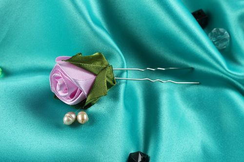 Handmade hair accessories floral hair pin bridal accessories flower jewelry - MADEheart.com
