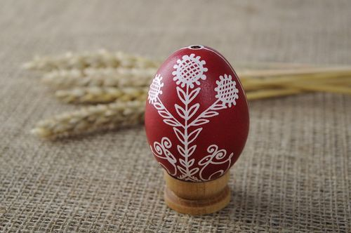 Painted egg Family tree with deers - MADEheart.com