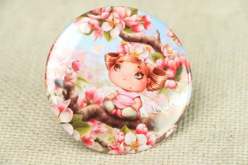 Womens pocket mirror Blossoming Cherry - MADEheart.com