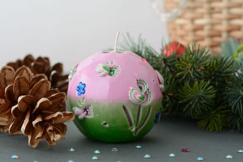 Carved ball-candle Spring - MADEheart.com
