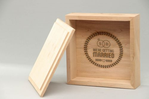 Personalised gift, wooden craft blank Jewelry box - MADEheart.com