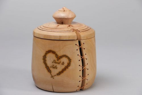 Personalised gift, handmade carved wooden box - MADEheart.com