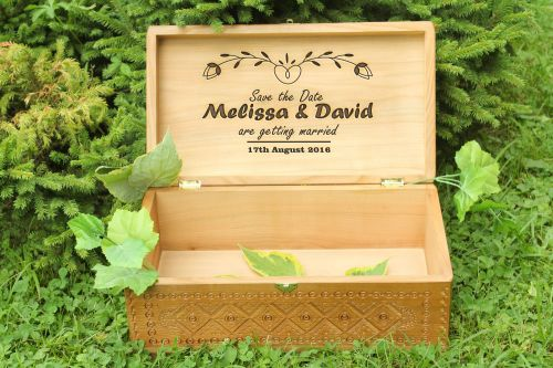 Personalised gift, large wooden box - MADEheart.com