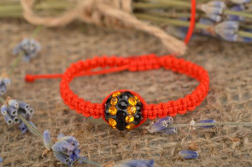 Handmade thin braided bracelet with ties friendship bracelet designs gift ideas - MADEheart.com