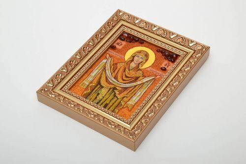 Amber decorated icon for home - MADEheart.com