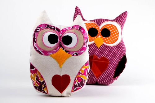 Handmade designer soft toy cute pillow with print stylish nursery decor - MADEheart.com