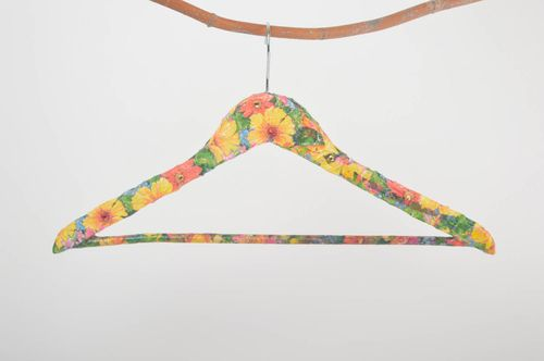 Handmade hangers for clothes decoupage hanger interior decor wooden hanger - MADEheart.com