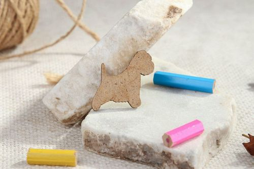 Chipboard, wooden blank for scrapbooking Dog - MADEheart.com