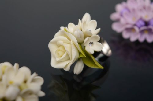 Beautiful womens cold porcelain ring - MADEheart.com