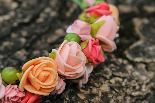 Wreath headband Roses - MADEheart.com